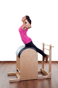 (Radhika doing a Back Extension on the Ladder Barrel)