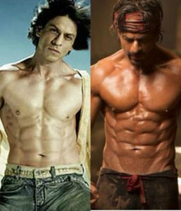 Left: Shah Rukh Khan for Om Shaanti Om; Right: Shah Rukh Khan Happy New Year