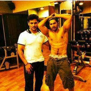 Varun Dhawan training with Prashant