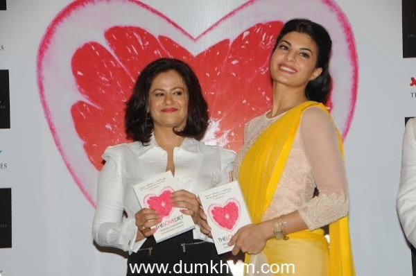 "Shonali launching ""The Love Diet"" book with jacqueline Fernandez"